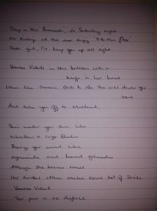 Voodoo Violet draft lyrics