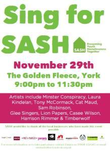 Sing for SASH poster