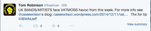 Tom Robinson Tweet